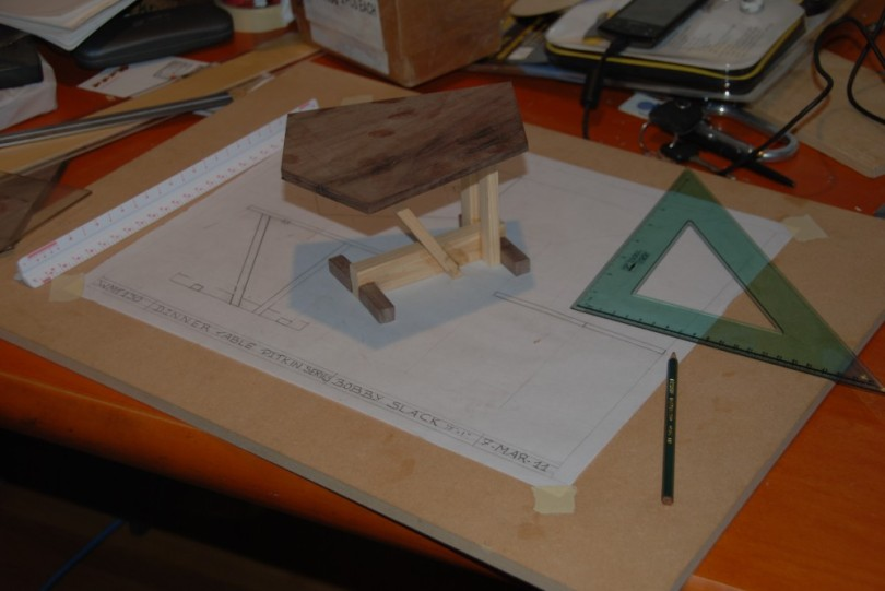 Gaucho Woodworking Table First Sketch and Model